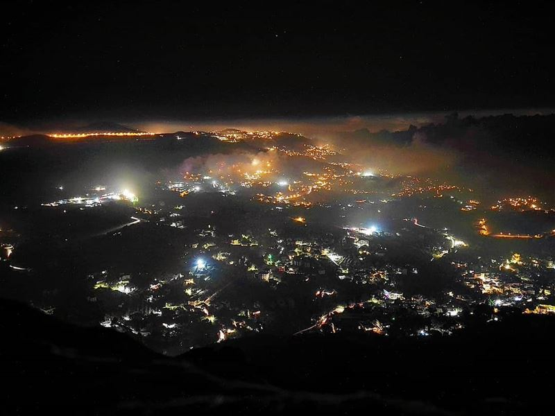 """The fog has risen from the sea and crownedThe dark, untrodden summits of... (Mount Lebanon Governorate)"