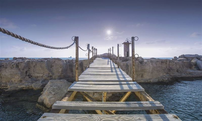 landscape seascape old bridge sunset goldenhour summer lebanon batroun...