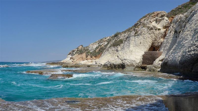 Water, cliffs and hiking...  whatelse? summer  beach  wanderlust ... (Naqoura)