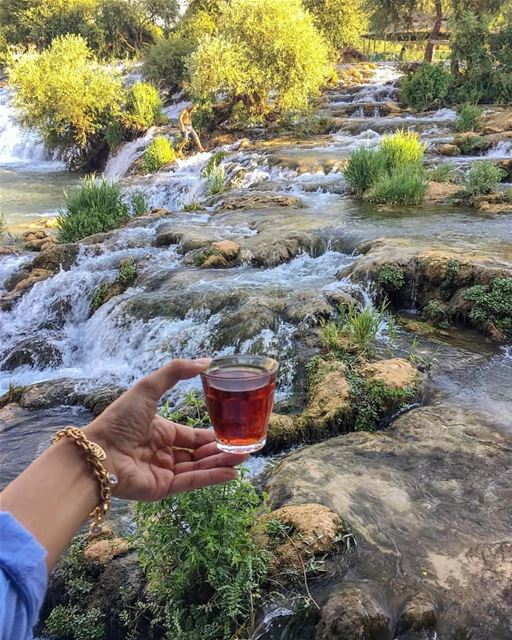 teatime  assiriver by @najatar via @livelovebekaa fun  raftingtrip ... (El Hermel, Béqaa, Lebanon)