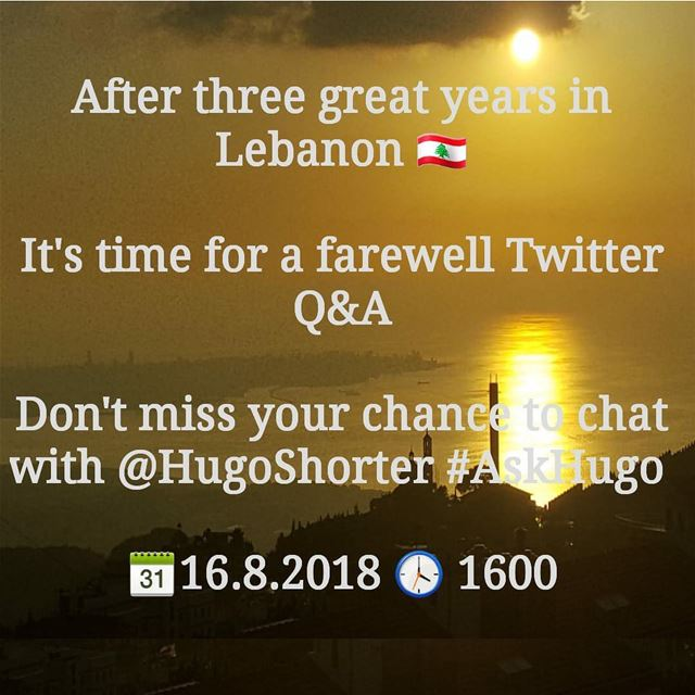 After three great years in Lebanon 🇱🇧 It's time for a farewell  Twitter ...