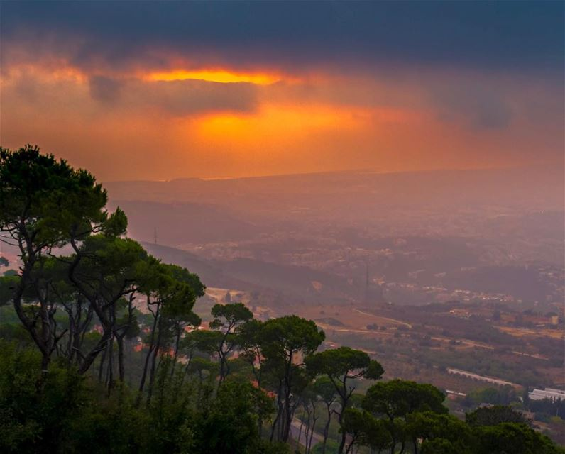 Sunset Aley mountains lebanon landscape nature clouds lebanon_hdr...