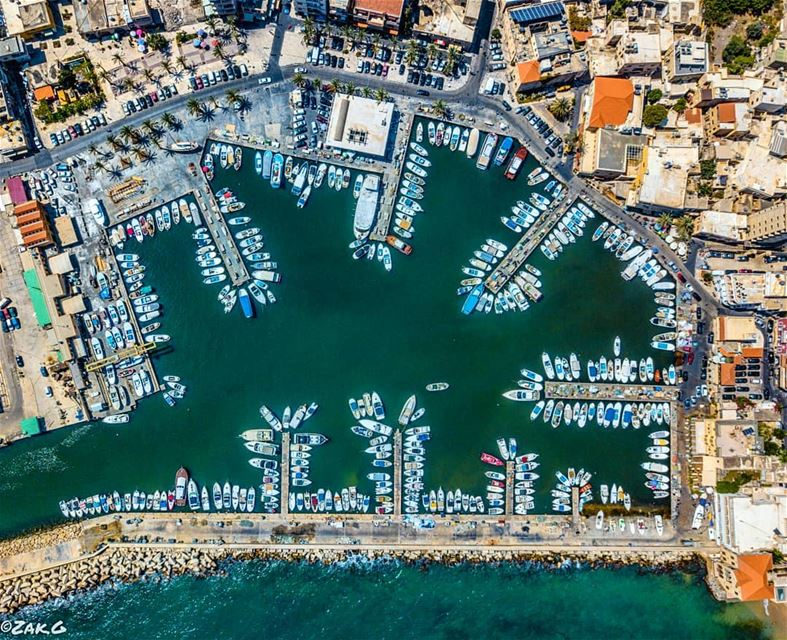 Who said seaports are only accessible by sea? A shot from the skies of... (Tyre, Lebanon)