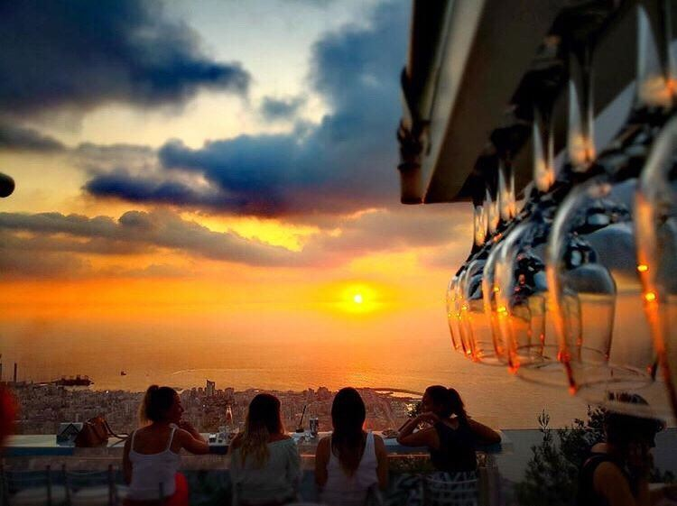 """Beautiful sunsets need cloudy skies"" - Paulo Coelho📍@theterrace_lebanon... (The Terrace - Restaurant & Bar Lounge)"