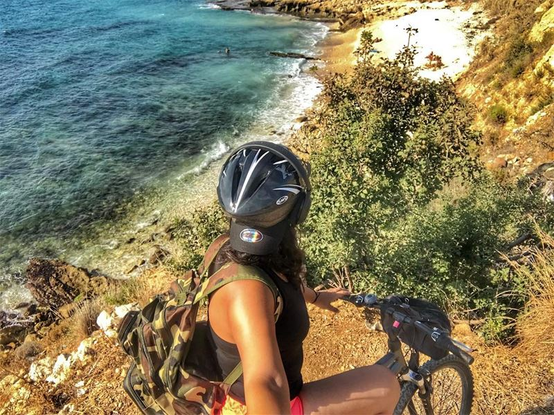 My kind of afternoon  cycling  beach lebanon  sea  travel ... (El Berbâra, Mont-Liban, Lebanon)