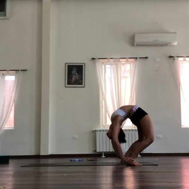 From scorpion into full wheel, it's becoming a go-to transition when... (Sarvam Yoga)