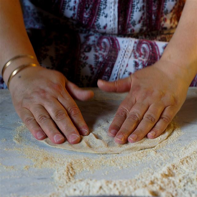 Cc @therecipehunters Rima flattens and expands the dough below her. With...