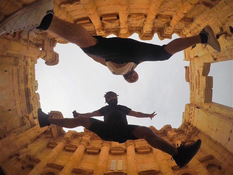 You Jump, I Jump Remember?....... jump  ruins  history  fun  gopro... (Baalbek, Lebanon)