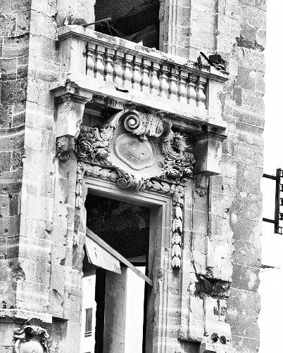 The details at L'orient newspaper building. It was one of the most... (Beirut, Lebanon)
