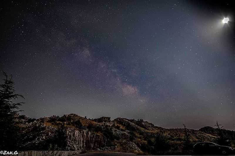 Look up at the stars  milkywaychasers  nightview  lebanon ... (Jaj, Mont-Liban, Lebanon)