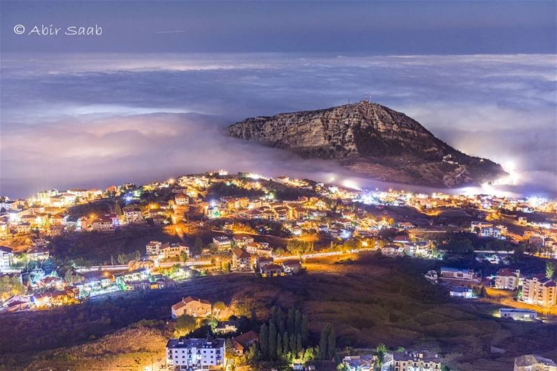 Ain't no mountain so high..Aito mountain embraced by clouds as spotted... (Ehden, Lebanon)