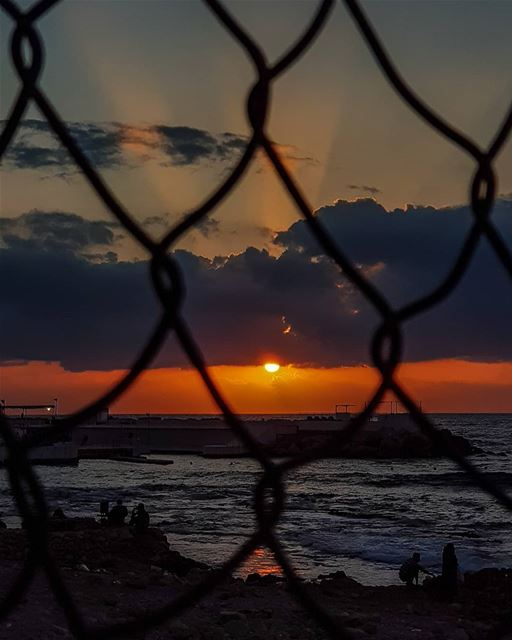 My Bike said that fences will melt when she looks through them.. ..☀️🍃... (Beirut, Lebanon)