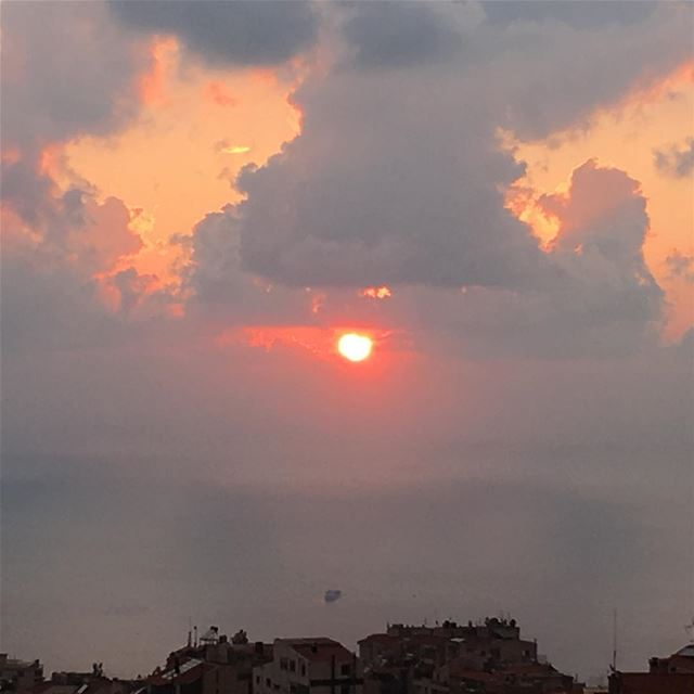 No filter  sunset  iphonephotography  view mountain livelovelebanon  beach...