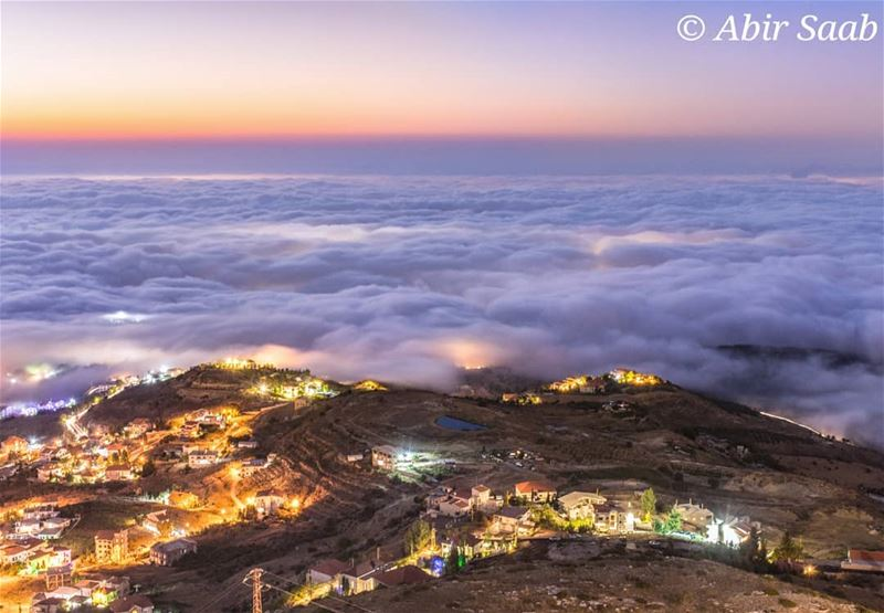 From one of the best lebanese villages, Ehden.. lebanon  bluehour ... (Ehden, Lebanon)