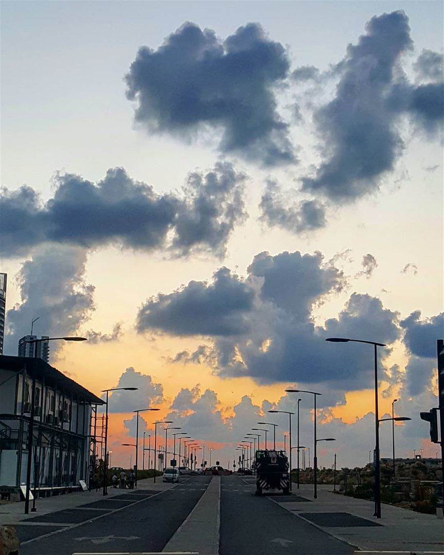 It's  skyporn season (part II) 💛💛🌅 ............. Lebanon ... (Beirut Waterfront)