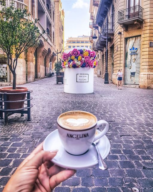 Goood morning! From the heart of Beirut city, with love... ☕💟☕.... ... (Beirut, Lebanon)