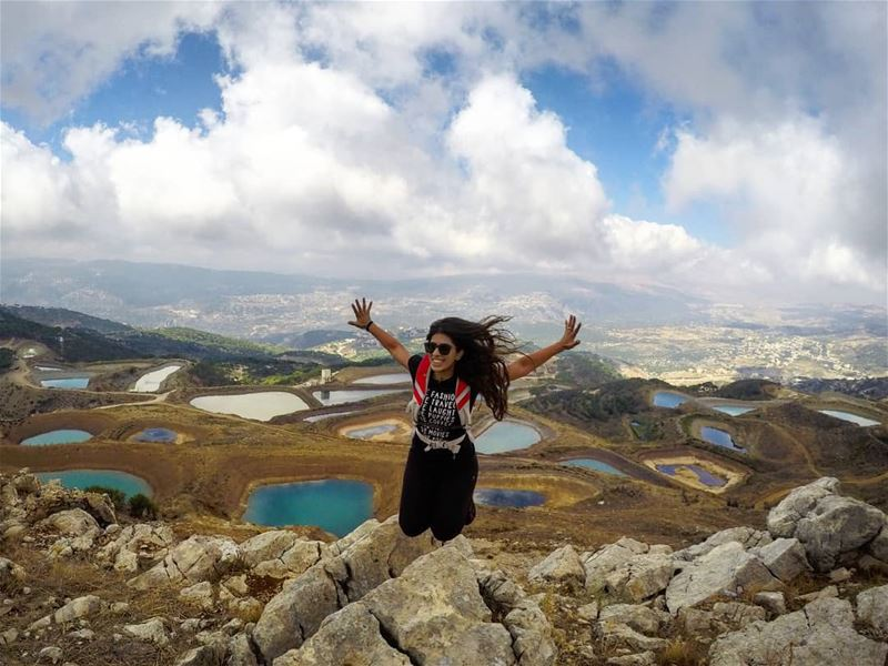 Fly Above The Negativity To Float In The Wisdom Of  Positivity 💙 Jump ... (Falougha, Mont-Liban, Lebanon)