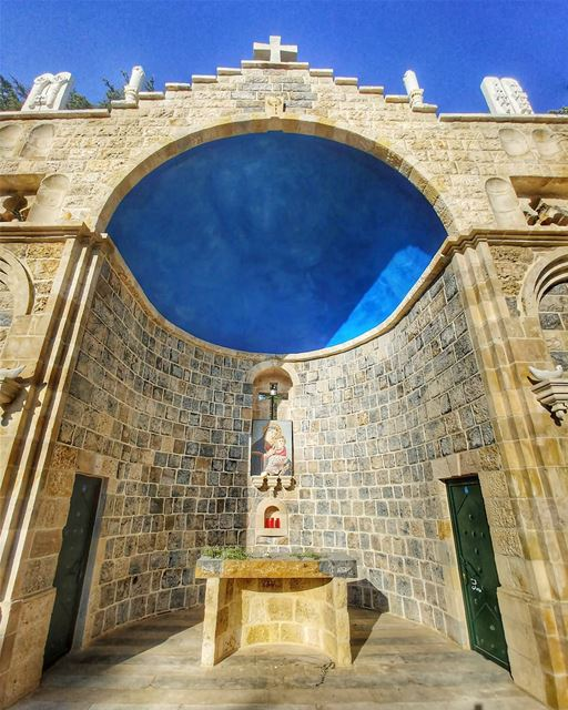 The new beautiful church in Arz-Lebanon 💙💙💙💙💙💙💙💙💙💙💙💙💙💙💙💙💙� (Cedars of God)