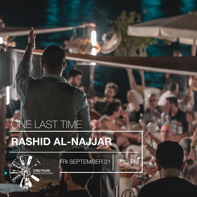 One last time this season!! The amazing Rashid Al-Najjar by @rootmusicvenue (Chez Fouad)