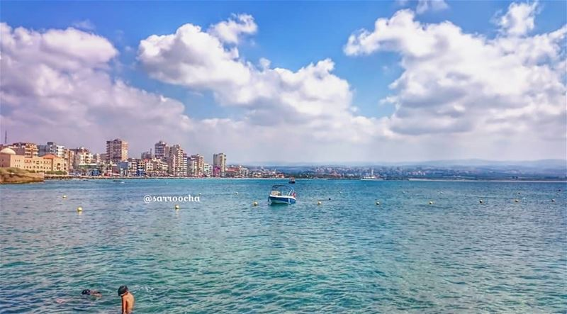 Smell the sea and feel the sky🏖 takenbyme  ptk_Lebanon  visitlebanon ... (مدينة صور - Tyre City)