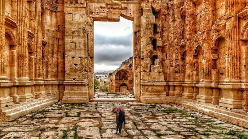 "How tiny i feel inside its Majesty ""Baaklbek"" 🏰............ (Baalbek, Lebanon)"
