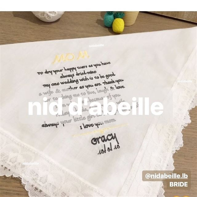 Queen of our 💛Write it on fabric by nid d'abeille  bride  bigday ...
