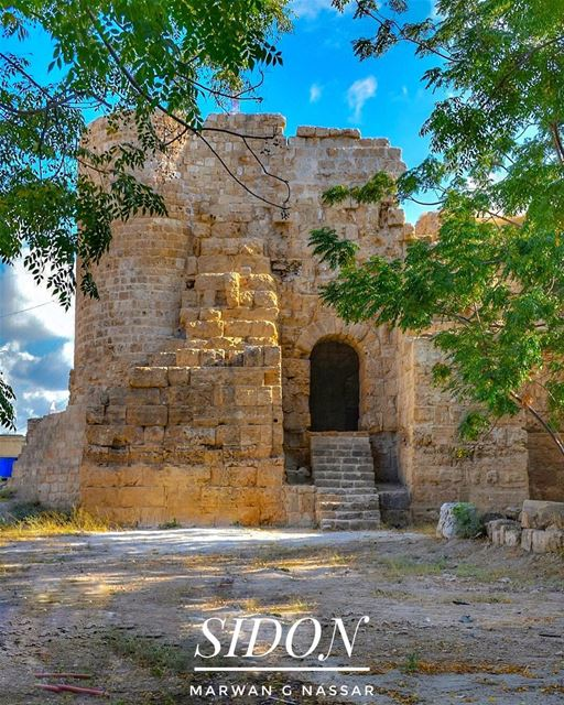 The Castle of Saint Louis, also known as Qalaat al Muizz or the Land... (Sidon, Lebanon)
