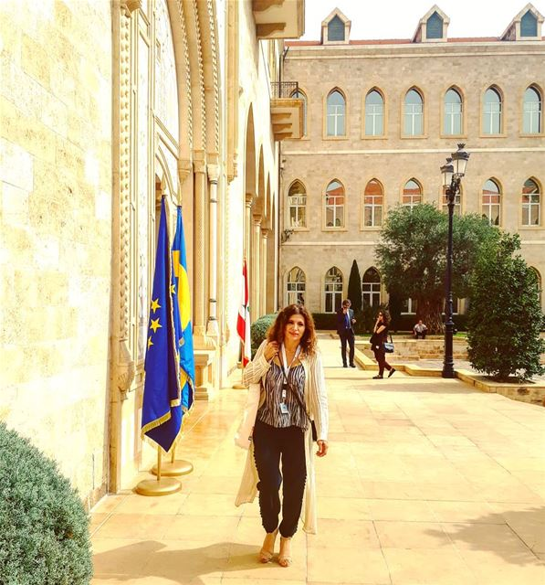 Today the Grand Serail was wearing the colours of Sweden as H.E. Victoria,... (Grand Serail)