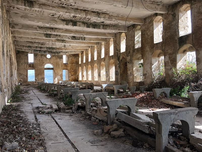 A getaway to the past. The abandoned silk mill in  kfarmatta  lebanon. @li (Kafr Mattá, Mont-Liban, Lebanon)