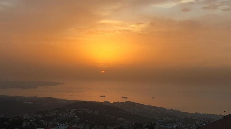 never go too long without watching a sunset.. happeningnow... (Beirut, Lebanon)