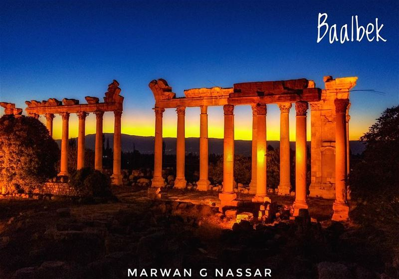 The Roman Ruins of Baalbek, The Heliopolis at Dusk......📍Baalbek,... (Baalbek, Lebanon)