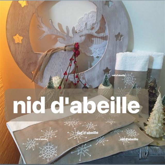 Guest towels 🌲Write it on fabric by nid d'abeille  christmas  isottoosoon...