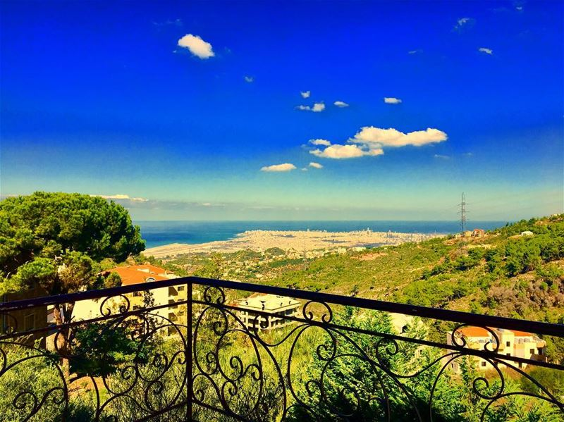 ••• just a 📷 ••••••and a Saturday☀️ Lebanon  sea  balcony  sky  weather... (Baïssoûr, Mont-Liban, Lebanon)