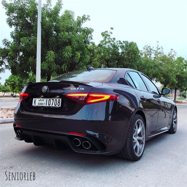 So much drama and beauty of the Alfa Romeo Giulia Quadrifoglio———————————— (Dubai, United Arab Emirates)