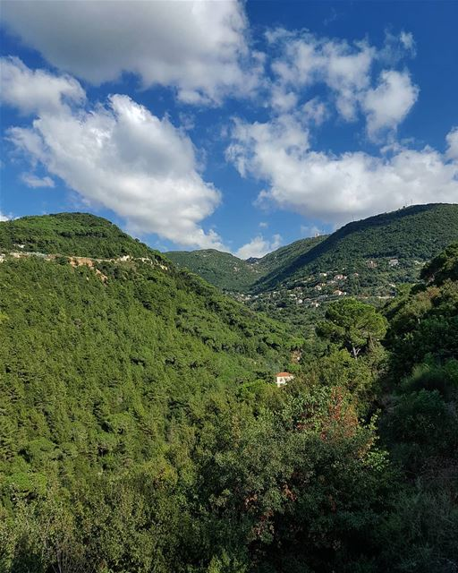 Colors of spirit 💚.. Nature  naturephotography  greenlife  bluesky ... (Dlebta, Mont-Liban, Lebanon)
