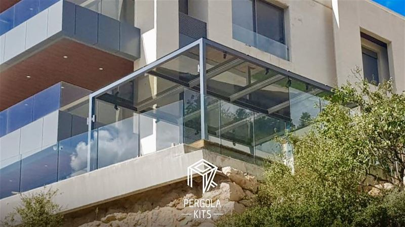 Metal Steel Structure with Glass Roofing Pergola Kits!  PergolaKitsLebanon... (Adma, Mont-Liban, Lebanon)