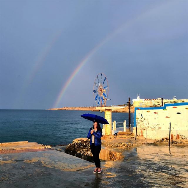 There's something about the beauty I've found when it rains ☔ 🌈 (Anfeh, Lebanon)