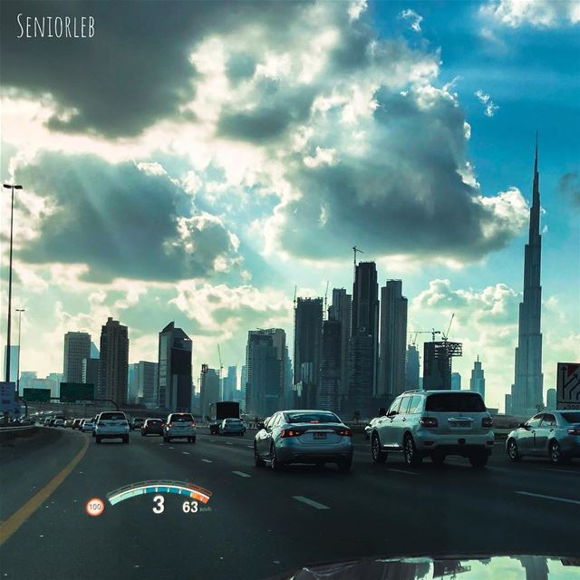The best things happen unexpectedly. While you driving and you see such a... (Burj Khalifa)