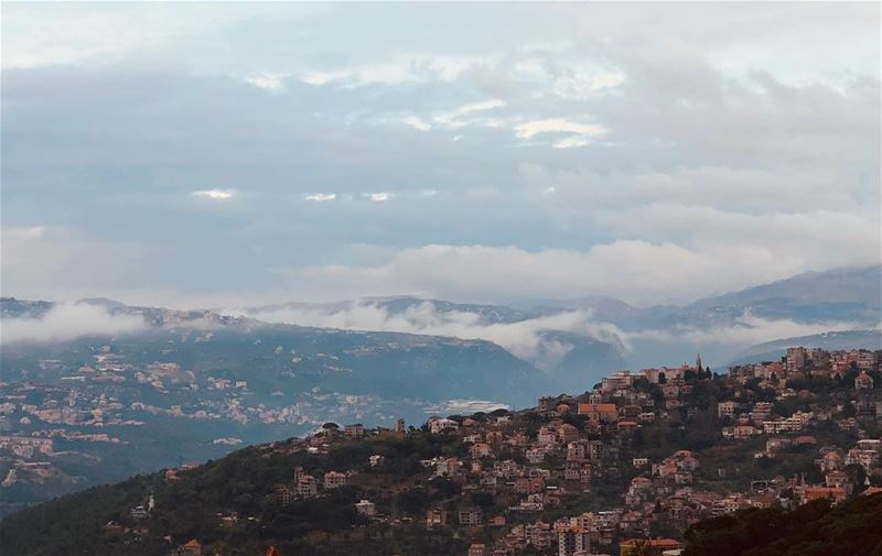 Always believe something wonderful is about to happen.. mymorningview... (Qurnat Shahwan, Mont-Liban, Lebanon)