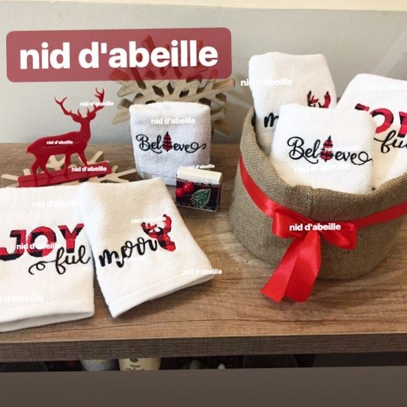 JOYful 🎈merrY 🦌Believe 🌲Order now your guest towel for this season ❤️...