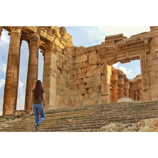 Don't let yesterday take up too much of today! livelovelebanon ... (Baalbeck Ruins)