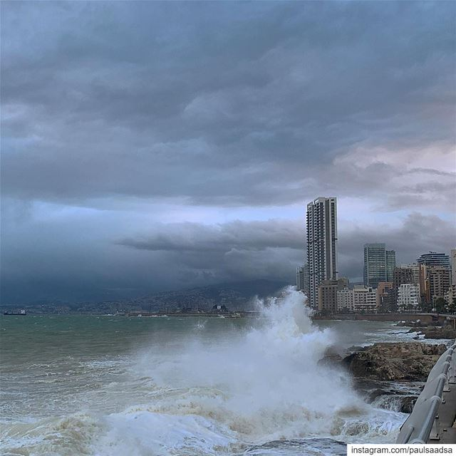 storm  beirut  360waves  sea  beach  winter  beirut  lebanon  stormnorma ... (عين المرسيه)