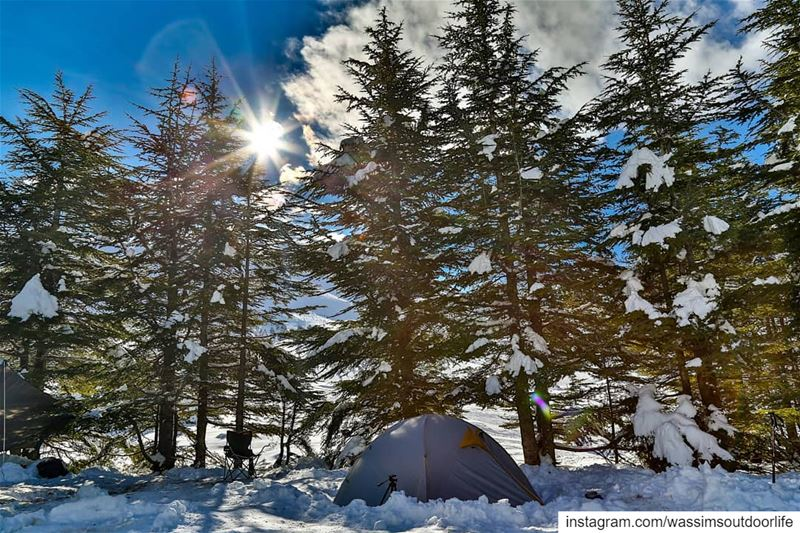 Waiting for the fresh snow for a new snowcamp 😎 lebanon  campers  camp...