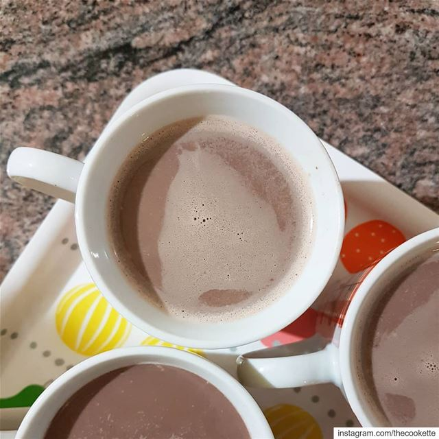 Homemade Hot Chocolate🌸Ingredients🌸8 cups of whole milk1/2 cup of... (Beirut, Lebanon)