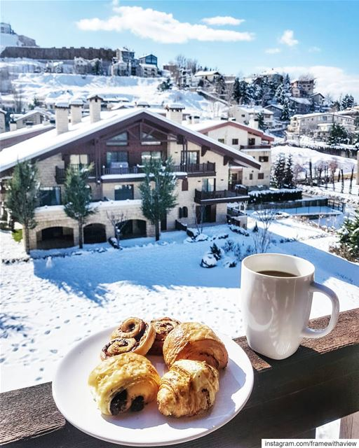 This may not be Switzerland but it certainly feels like it! 🥐 ☕ Good... (Faraya, Mont-Liban, Lebanon)