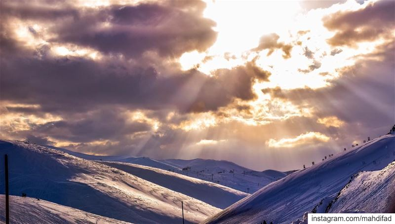 Mzaar Moutains Snow clouds Sky Beautiful Lebanon Nature landscape igers... (Mzaar Kfardebian)