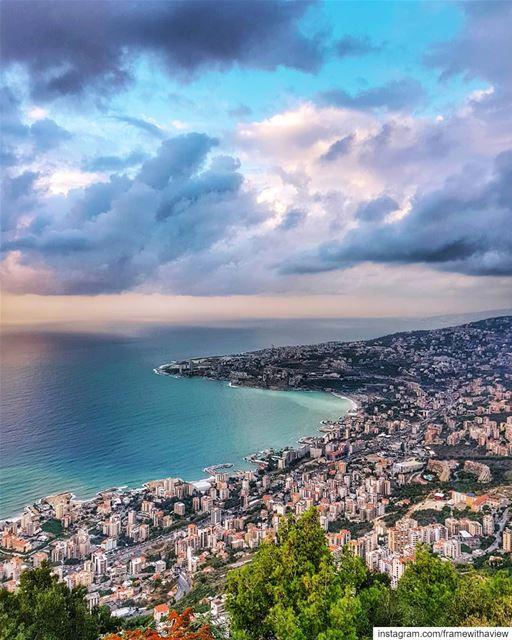 After the storm, always comes the most beautiful views of Lebanon. 💙 This... (Jounieh Bay)