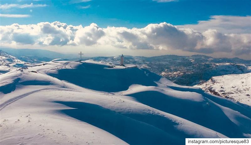 When snow falls, nature listens... snow  winter  nature  lebanon  ski ... (Faraya, Mont-Liban, Lebanon)