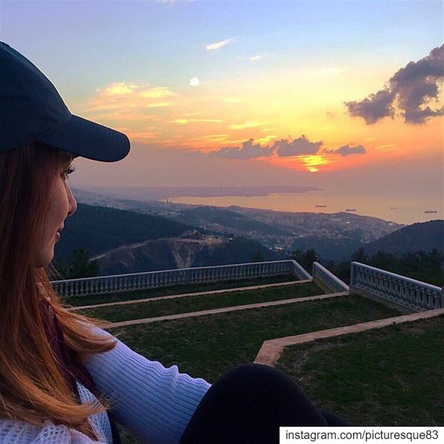 beautiful things don't ask for attention beautifulsunset beautifullebanon... (Ballouneh, Mont-Liban, Lebanon)