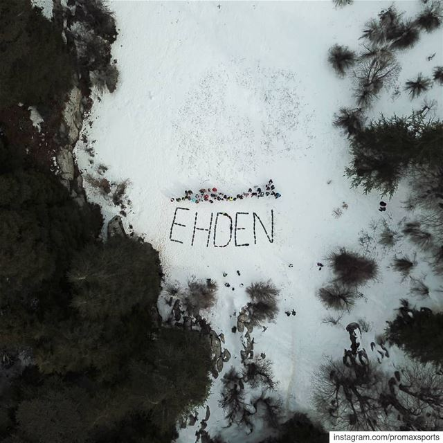 One of the most beautiful piece of Arts shot from above in 2018.Join... (Horsh Ehden)